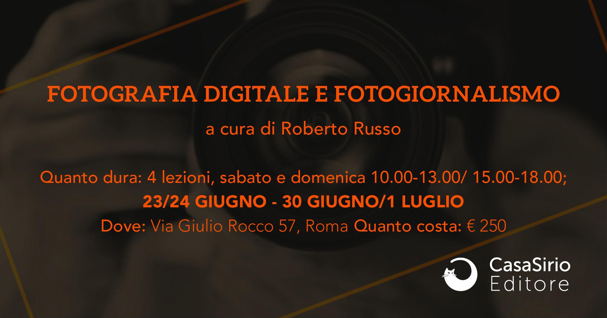 Fotografia digitale e Fotogiornalismo